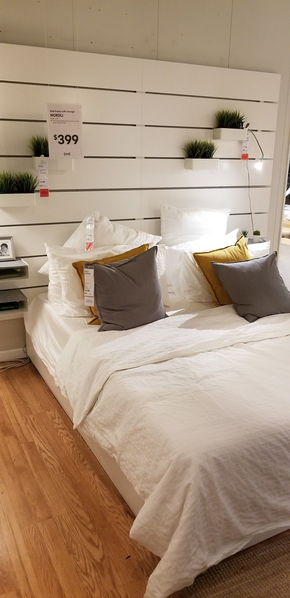 Ikea Headboard Stacked On Top On Each Other 800 Per Headboard With Storage Under T In 2020 Interior Design Bedroom Small Bedroom Closet Design Bedding Master Bedroom