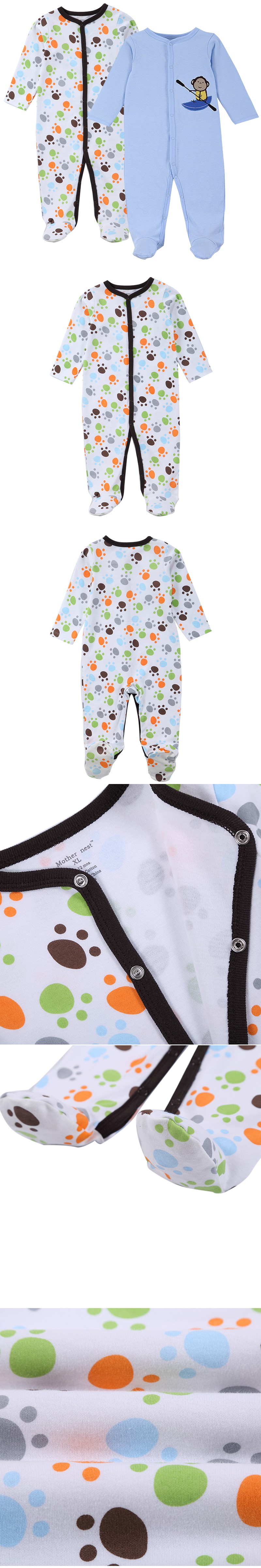 a619715fc5bd 2016 Mother Nest New Brand Baby Rompers Long Sleeves 2 Pcs Soft ...