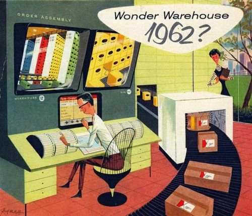 Wonder Warehouse 1962? Ad from 1956. Illustrated by Fred McNabb. _____ Credits Material via Tumblr: Midcenturymoderndesign _______________