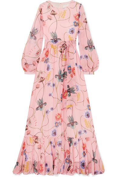 47e26c35c90 Borgo De Nor - Dianora Floral-print Silk Crepe De Chine Maxi Dress - Pink