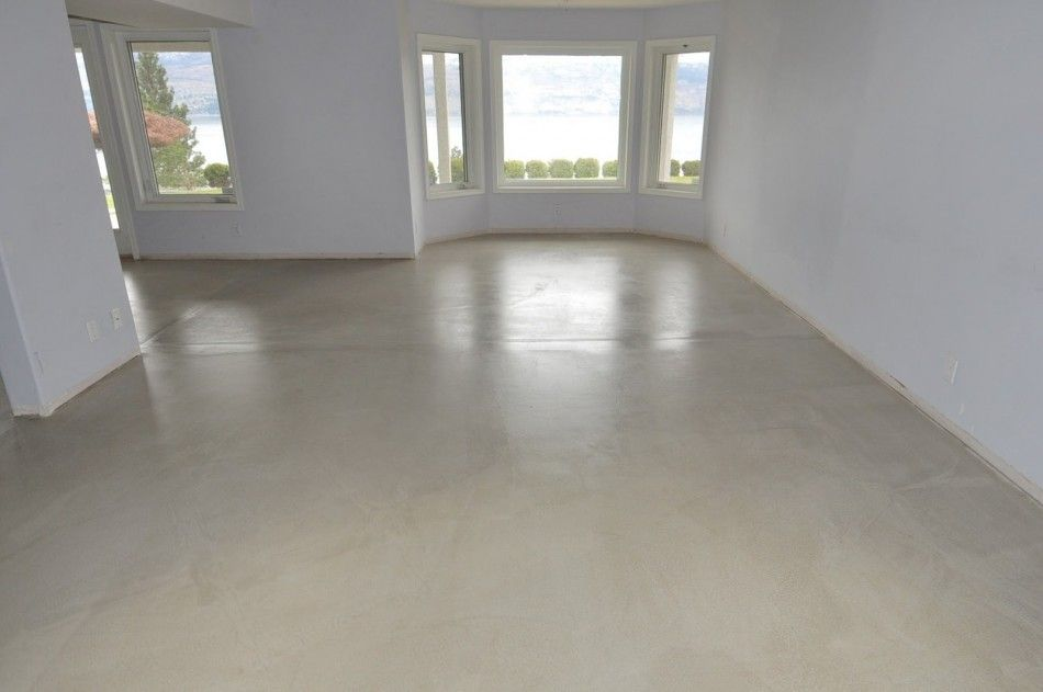 Ideas Cream Modern Concrete Floor Paint That Can Be Combined With White Wall Add The Touch Inside House Design Minimalist