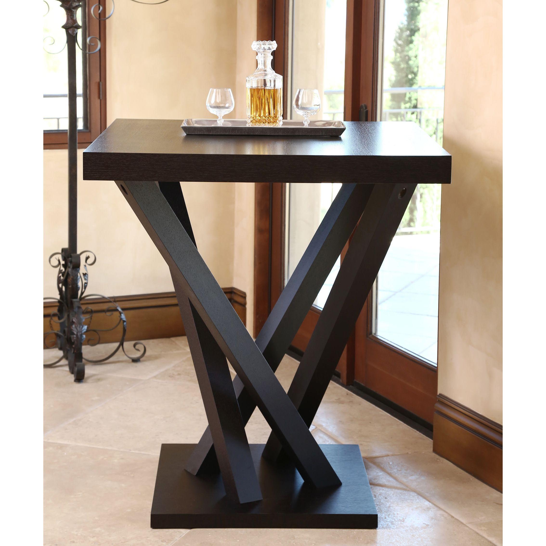 ABBYSON LIVING Cosmo Espresso Wood Square Bar Table - Overstock ...