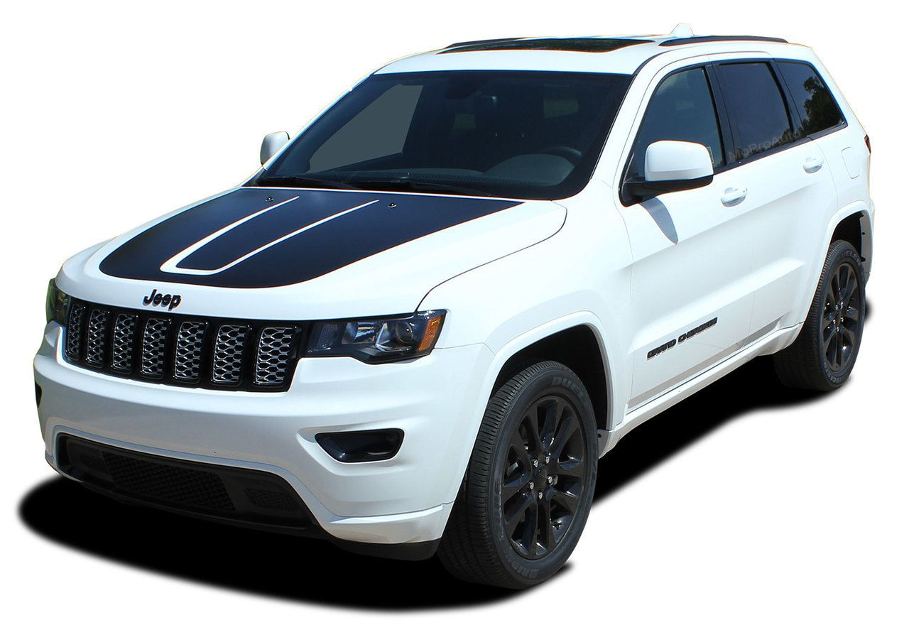 Trail Hood Jeep Grand Cherokee Trailhawk Hood Decal Stripe Vinyl Graphic Kit For 2011 2020 Models Grand Cherokee Trailhawk Jeep Grand Cherokee Jeep Grand