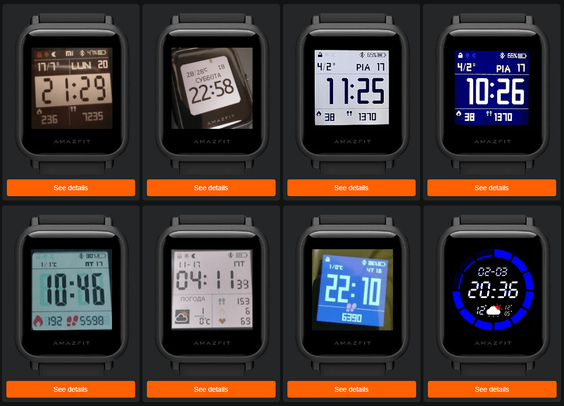 Amazfit Bip Watch Faces Are Starting To Show Up Increasing On Various Internet And Social Media Sites Nikolay Osmachko Has Custom Watch Faces Watch Faces Face