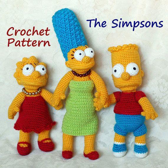 Gehäkelte Muster. Die Simpsons von InspiredCrochetToys auf Etsy ...