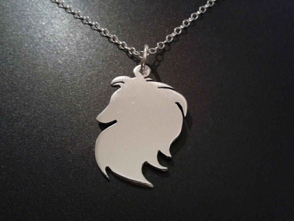 "Puppy Sterling Silver DOG 925 PENDANT Border Collie 18/"" Chain UK Design"