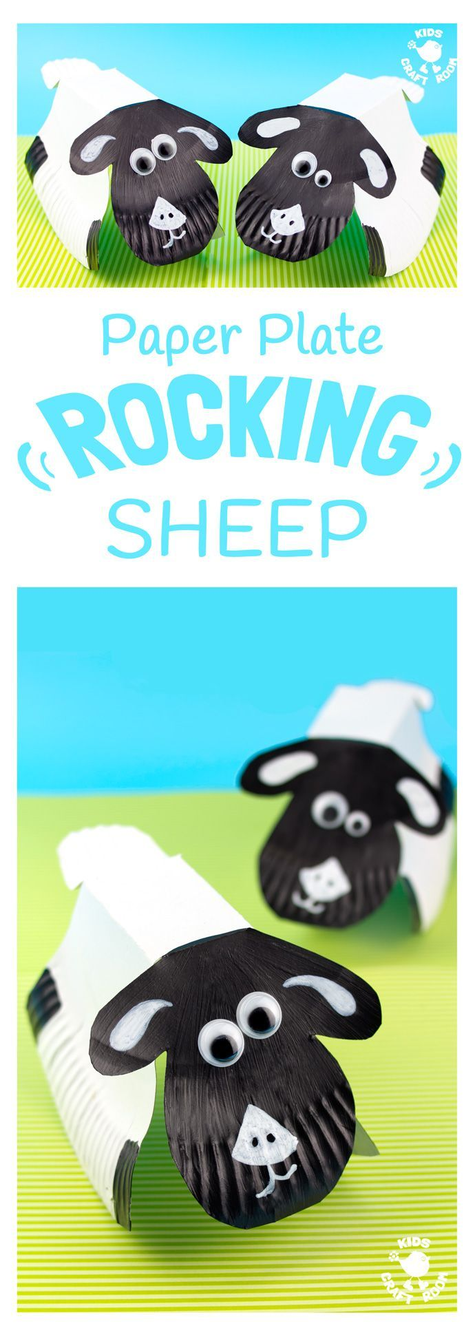 cardboard sheep template - rocking paper plate sheep craft spring much and sheep
