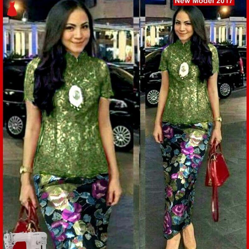 MSF0195 Model Setelan Lace Murah Kebaya Fashion, Lace