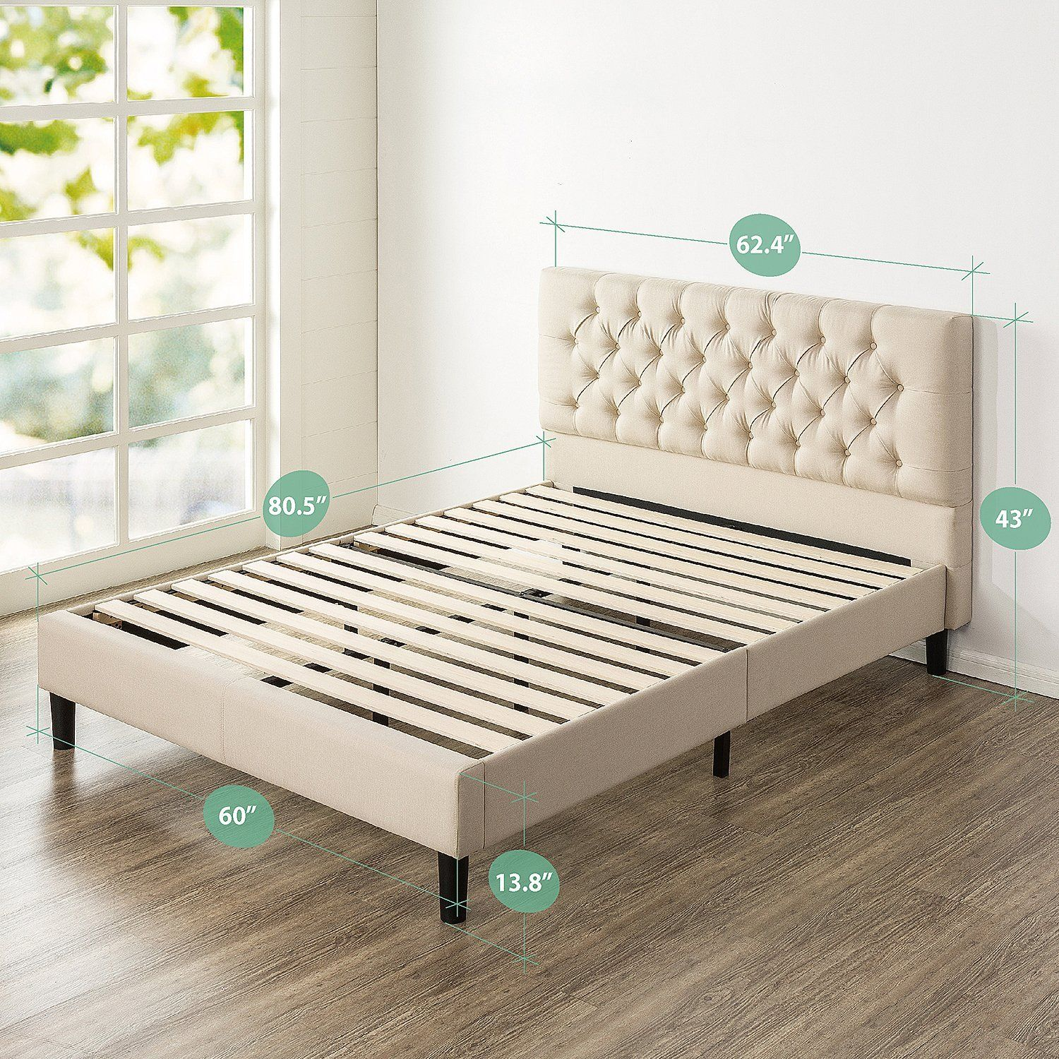 Amazon Com Zinus Upholstered Modern Classic Tufted Platform Bed Queen Home Kitchen With Images Platform Bed Mattress Upholstered Platform Bed Platform Bed