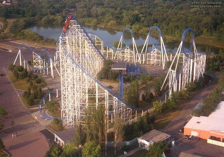 Shockwave Six Flags Great America Gurnee Illinois Usa Great America Roller Coaster Roller Coaster Park