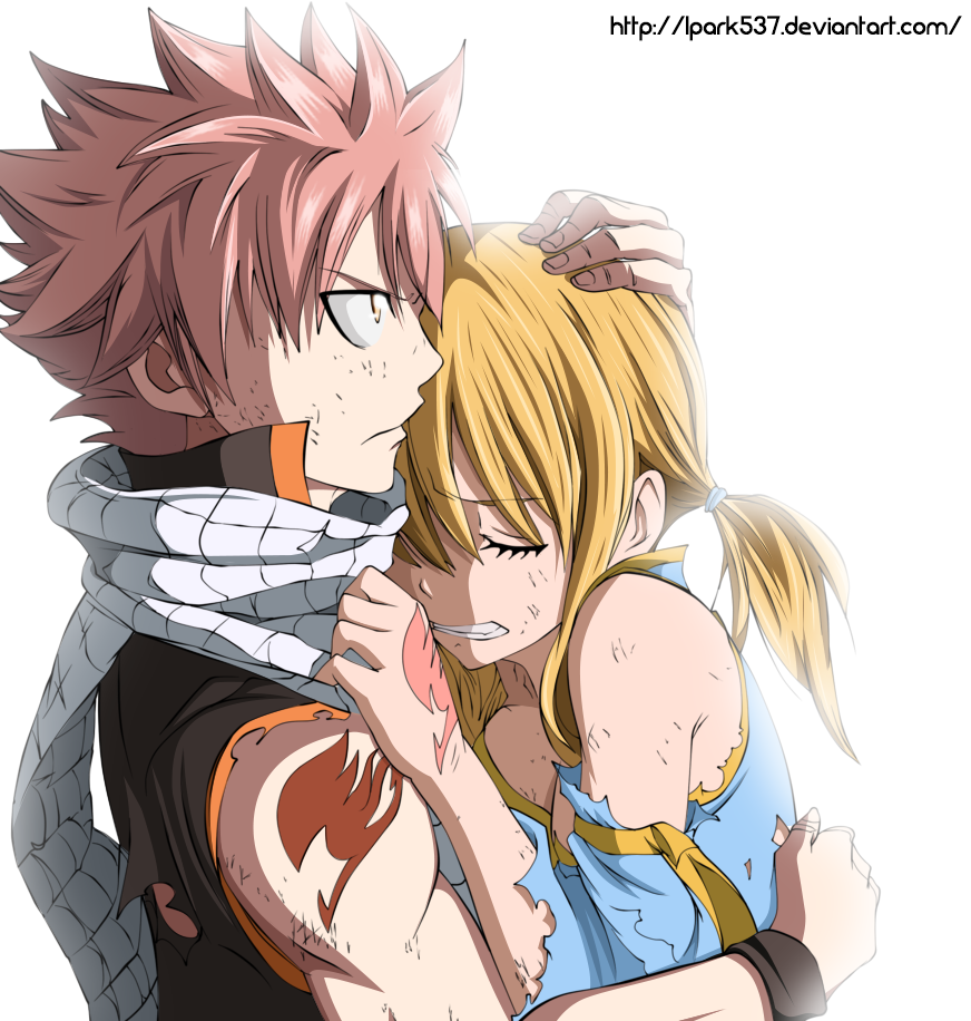 NALUUUUUU!! They make such a cute couple! You can just tell Natsu cares for  Lucy. He hugs her, helps her up, protects her, and her property. He may  make jokes a…