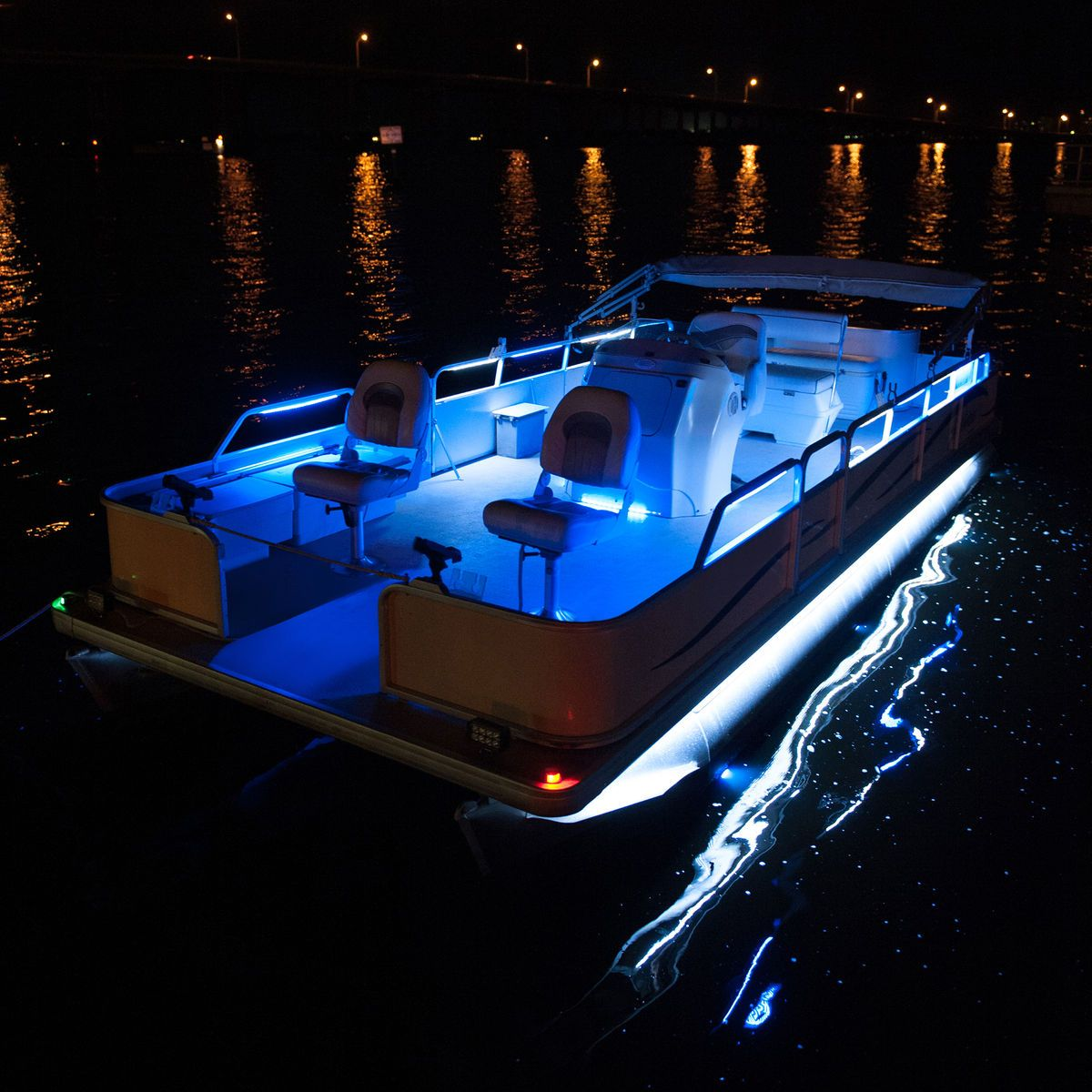 Replace Boat Lights With Led: Overtons 24 Flex Track LED Light Kit For Pontoon Boats