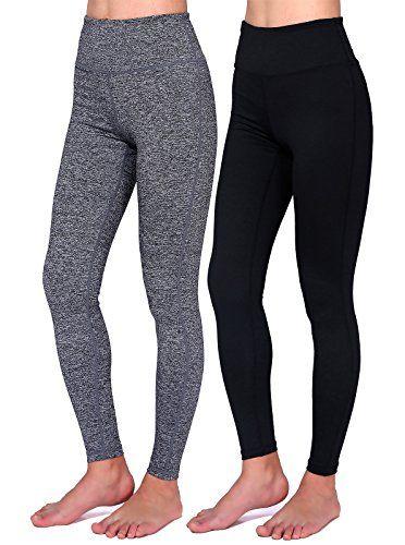 63a3c5530f Daisity Women's Yoga Pants - Gym Activewear Slim Spandex Tights - Hidden  Pocket Color Black Grey