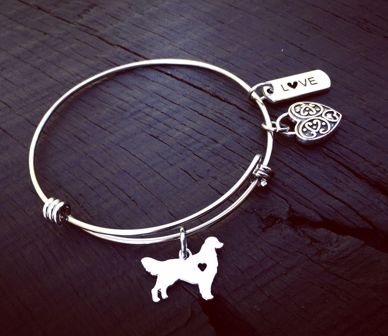 Golden Retriever Charm Bracelet Golden Retriever Jewelry Jewelry