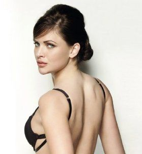 Backless bra, note the double strap attached to underwire ...