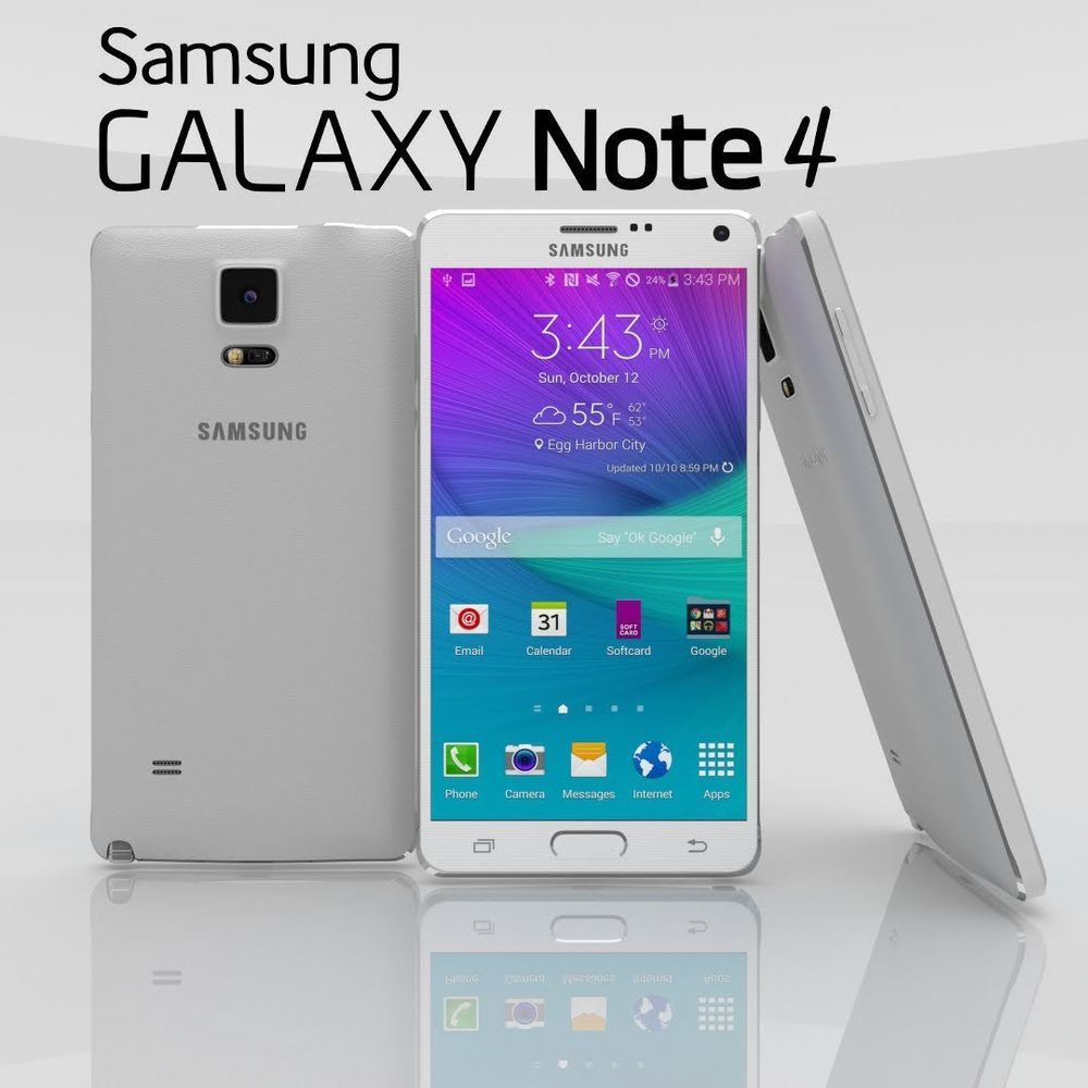 45c20b52d72 Samsung Galaxy Note 4 32GB White (T-Mobile) Android Smartphone (EZ01D1EA)