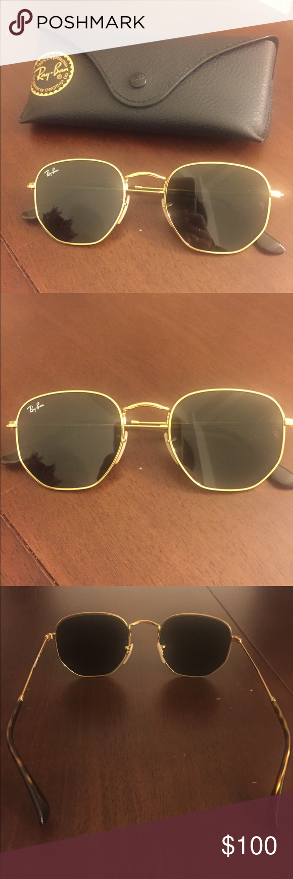 6a0d014124b Ray Ban Hexagonal Flat Sunglasses Gold Green Brand new Ray Ban hexagon  sunglasses. Never worn