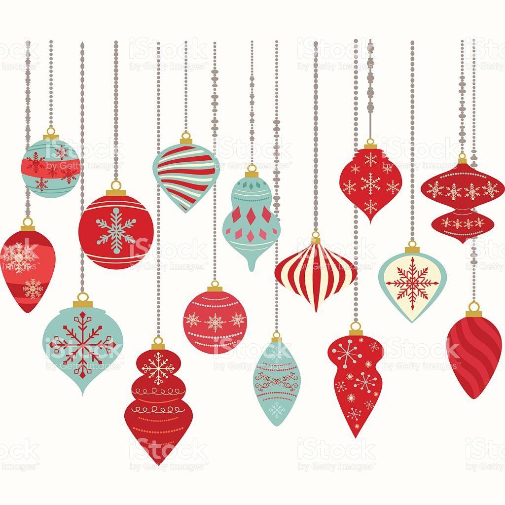 The Vector For Christmas Ornaments Christmas Balls Christmas Hanging Decorations Christmas Balls Decorations Christmas Clipart