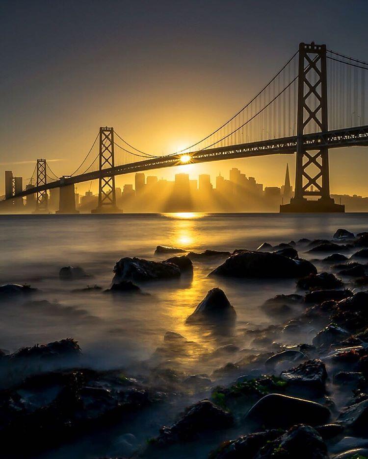 Golden Gate Bridge San Francisco California Sunset Picture: The Badass Bay Area
