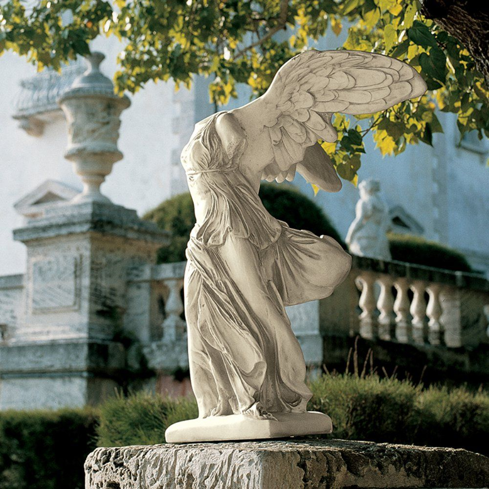 Nike of Samothrace Statue featuring winged victory of Samothrace. By Design  Toscano. Size:
