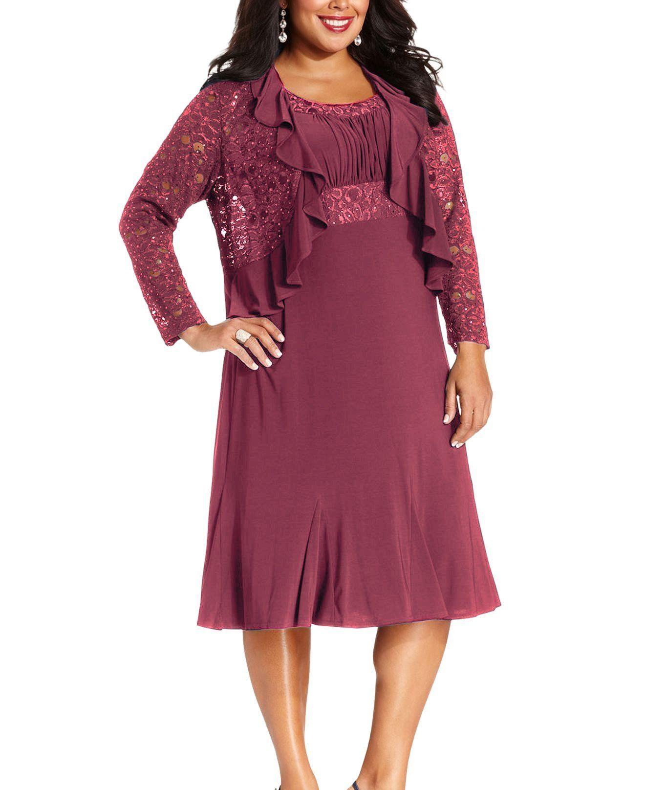 Rm richards plus size lace sequin dress products pinterest