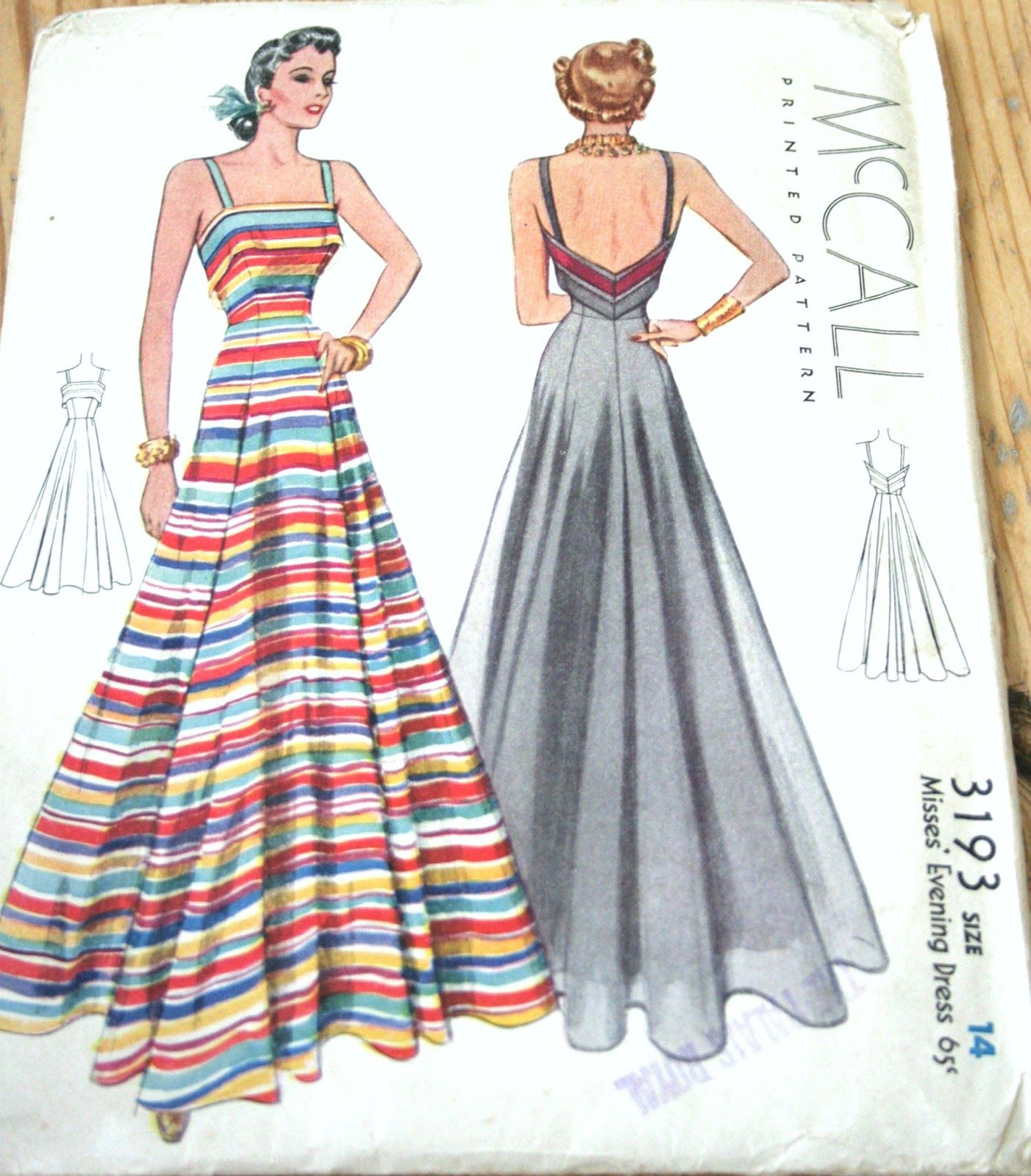 My happy sewing place shop my vintage pattern stash crafts mccall 3193 gown sewing pattern 1939 by sewinghappy on etsy could be modified into nice beach pyjamas jeuxipadfo Gallery