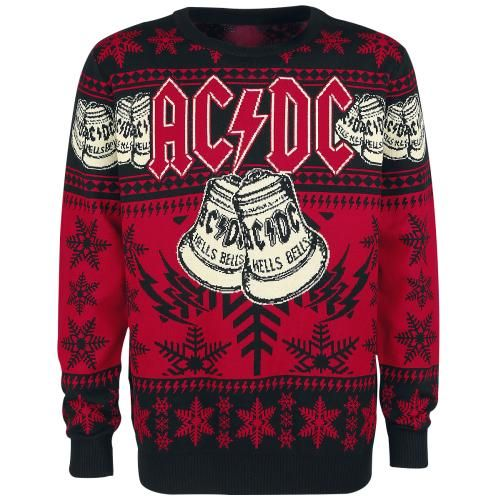 ac dc hells bells christmas holiday sweater jumper. Black Bedroom Furniture Sets. Home Design Ideas
