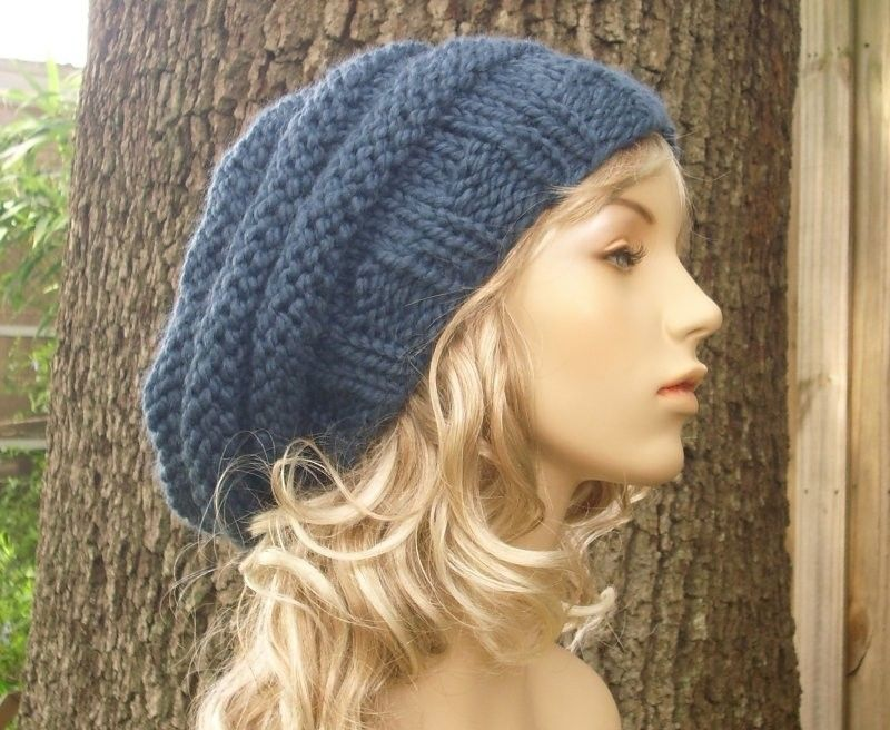Hand Knitted Hand Made Women\'S HAT Warm Winter Slouchy Beanie | eBay ...