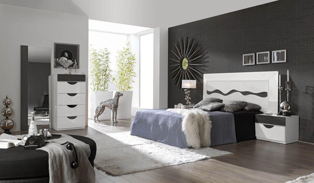 Dormitorio matrimonial negro blanco dormitorios for Decoracion de habitaciones de matrimonio en blanco