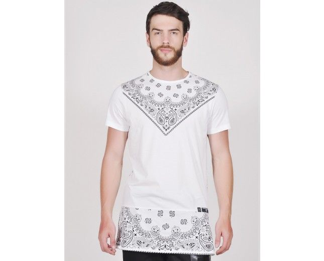 Long Line Hip Hop Love Dose tee in White color from Tiktauli De. Corps available at Tiktauli De. Corps Rs1,499.00.