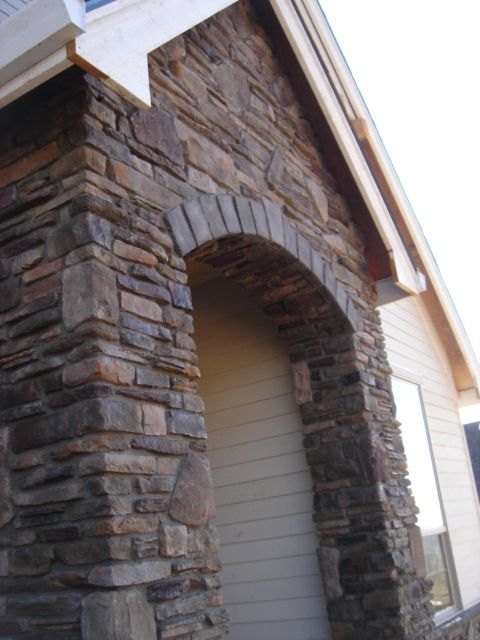 Stone Arch Stone Veneer Stone At Entry Cultured Stone