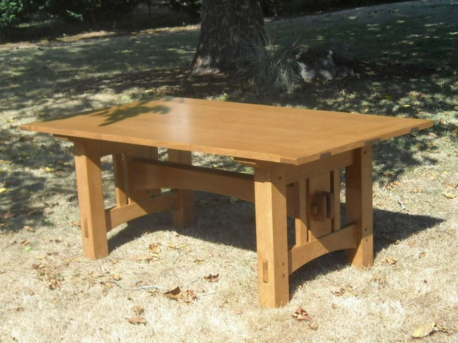 Twin Tenon Arts And Crafts Dining Table Dining Table Rustic