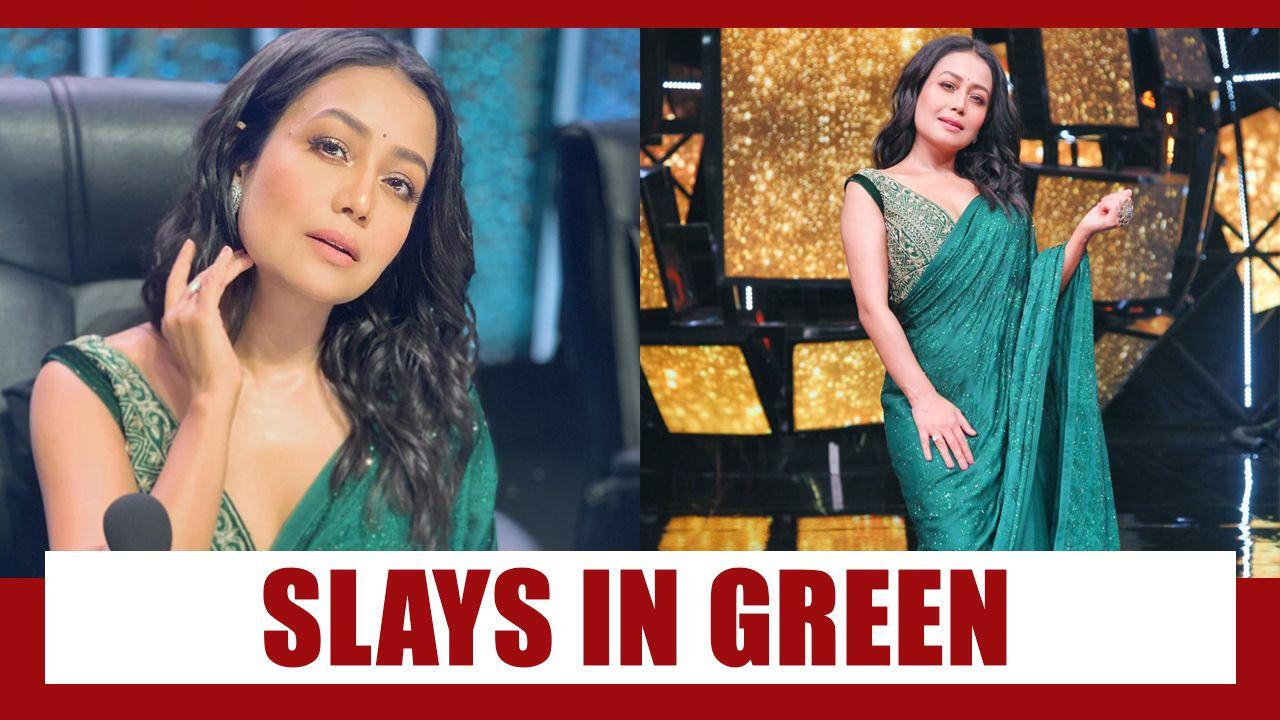 In Photos Neha Kakkar Slays In Green In 2020 Neha Kakkar Indian Idol Fashion