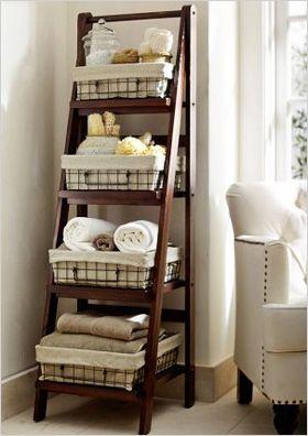 ladder floor storage   Modern storage options for your bathroom