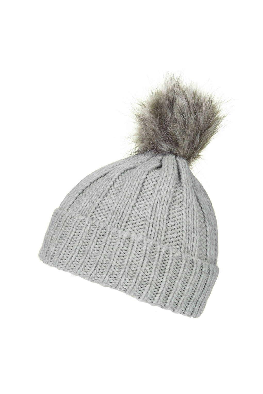 f9c2fc96019 Faux Fur Pom Beanie Hat - Topshop