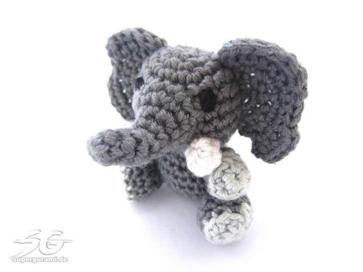 Patrón amigurumi ganchillo elefante | AMIGURUMIS | Pinterest ...