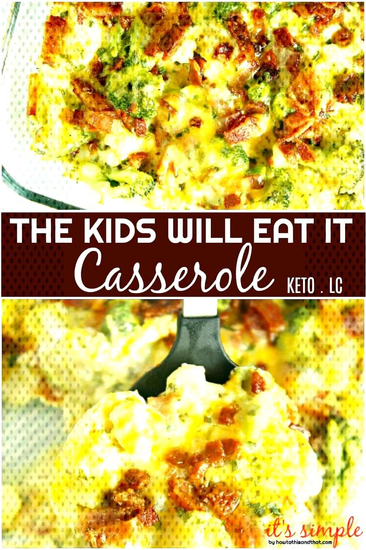 Serve up this Keto Broccoli Cauliflower Casserole Recipe. A mix of broccoli and cauliflower come to