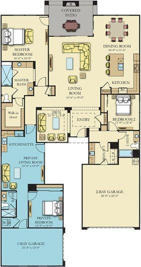Residence e Next Gen New Home Plan in Heritage at Cadence