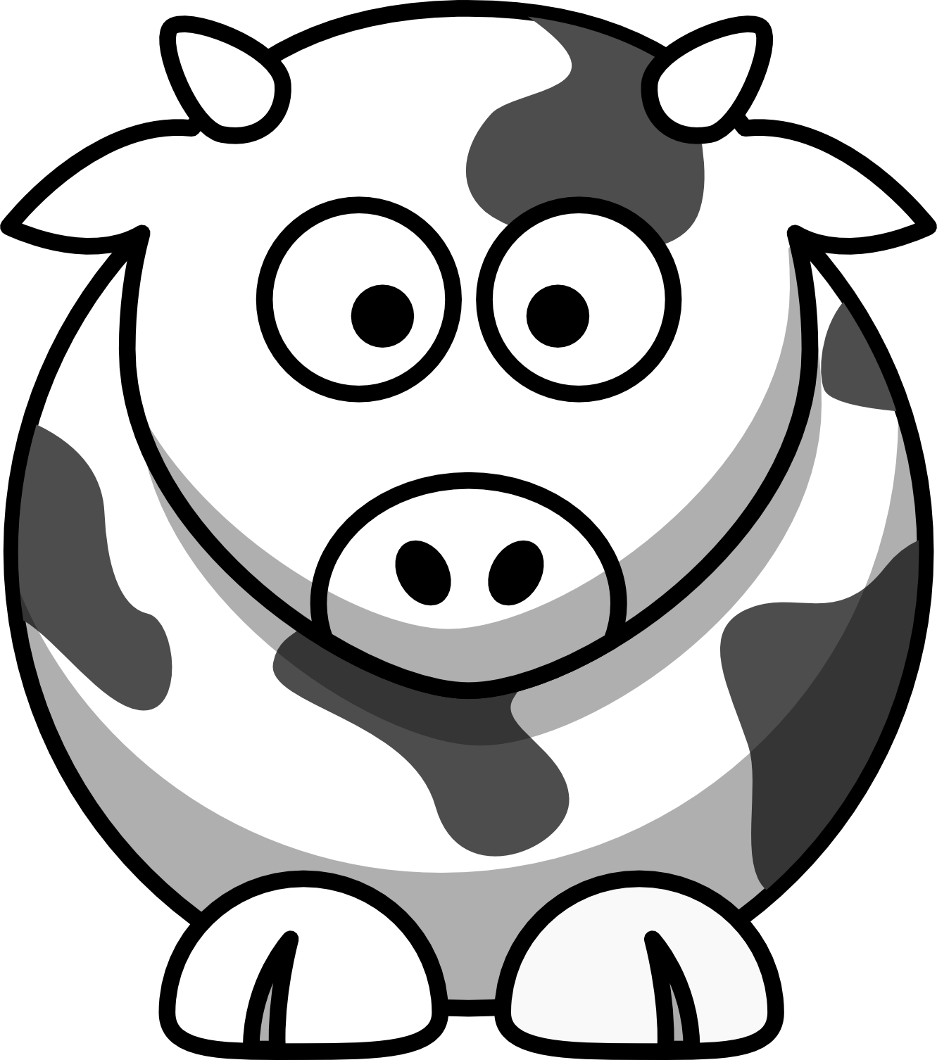 lemmling_cartoon_cow_coloring_book_colouring_black_white