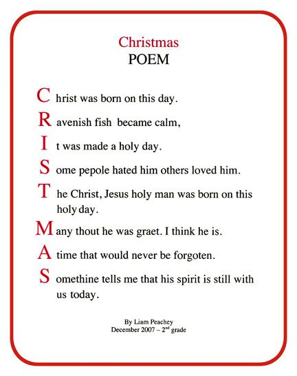 Short Christmas Poems For Church.Christmas Poems For Church Christmas Acrostic Poems For