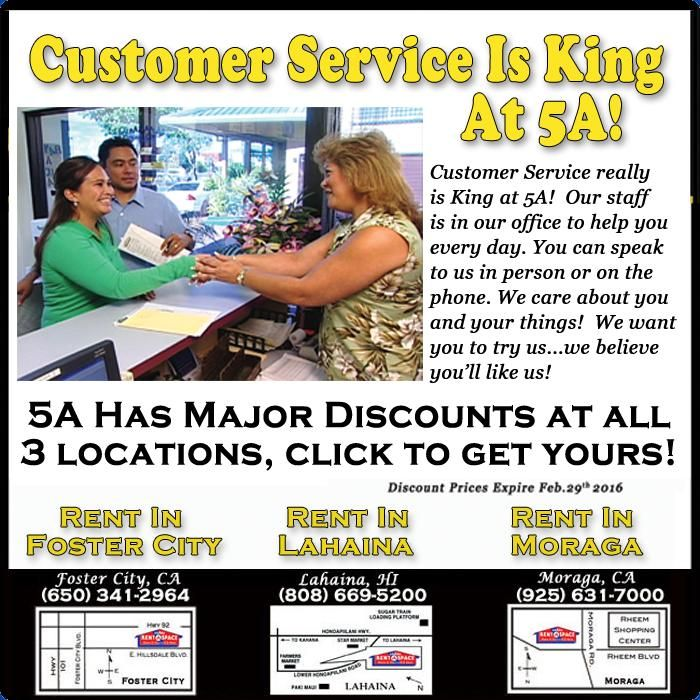 Discounts on Self Storage at all Rent-A-Space locations (Foster City CA; Moraga CA u0026 Lahaina Maui). Call your local site today for the current promotion!  sc 1 st  Pinterest & First Month Free on Select Units for a limited time at all three 5A ...