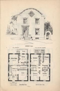 Artistic City Houses No 43 Colonial House Plans House Plans Spanish Colonial Homes