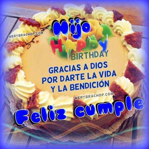 Feliz Cumpleanos Hijo Tarjeta Imagen Jpg 600 600 Postales De Feliz Cumpleaños Feliz Cumpleaños Mi Hija Cumpleaños Hijo