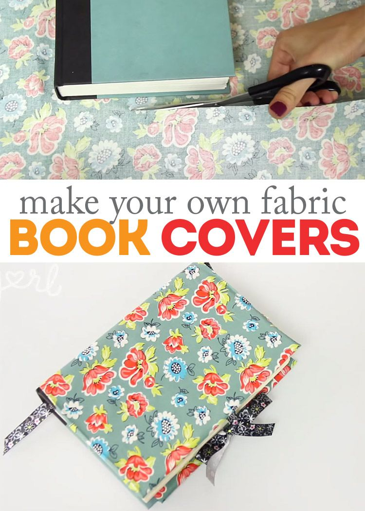 How To Make A Fabric Book Cover With Handles : How to make diy fabric book covers fabrics so cute and