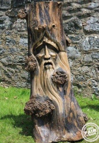 #sticksARTstones Green Man Garden Statue