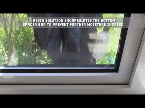 Condensation Removal From Double Glazed Windows Youtube How To Remove Condensation Window Seal