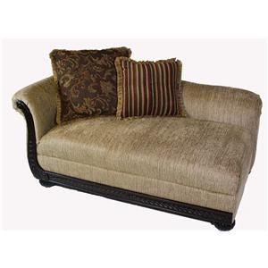 Serta Upholstery By Hughes Furniture 8500 Hughes Chaise   Old Brick  Furniture   Chaise Capital Region