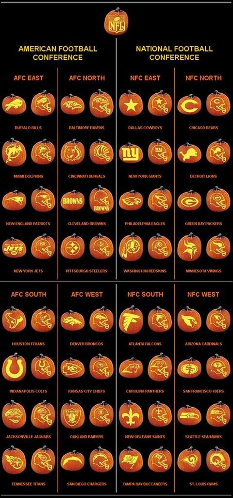 Free Printable Nfl Pumpkin Carving Patterns Holidays Other Than