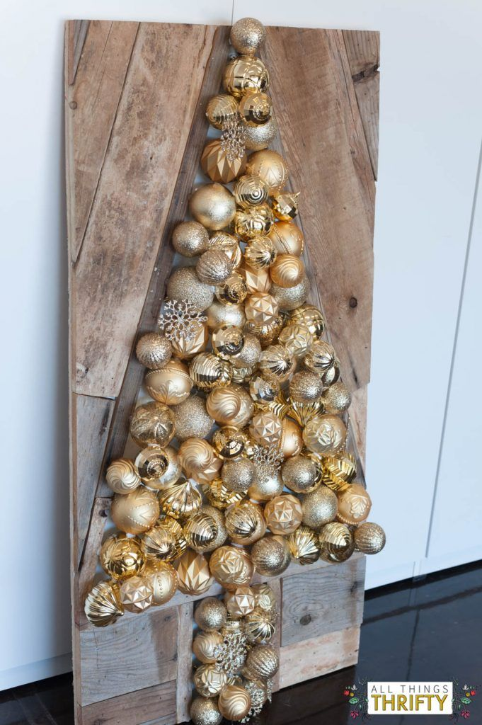 DIH Holiday Ornament Wood Pallet Virtual Party | Pallet ...
