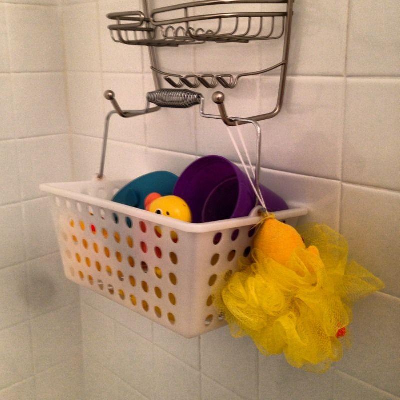 Basket shower caddy handy bath toy storage bath toys